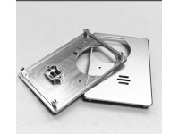 CNC machined aluminum housing for access control system